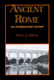 Cover of: Ancient Rome | Paul A. Zoch