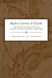 Cover of: Before Lewis and Clark | A. P. Nasatir
