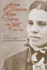 Cover of: African American women confront the West