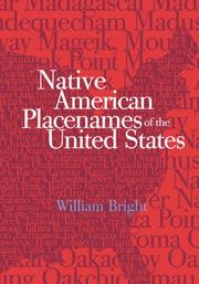 Cover of: Native American placenames of the United States