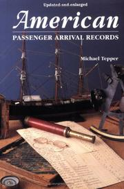 Cover of: American passenger arrival records | Michael Tepper