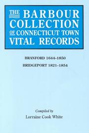 Cover of: The Barbour Collection of Connecticut Town Vital Records [Vol. 3] Branford,