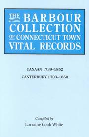 Cover of: The Barbour Collection of Connecticut Town Vital Records [Vol. 5] Canaan,