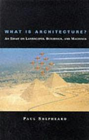 Cover of: What is architecture?