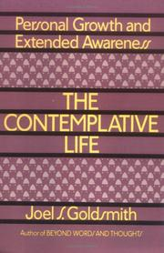Cover of: The Contemplative Life | Joel S. Goldsmith