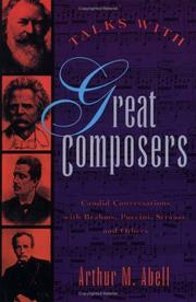 Cover of: Talks With Great Composers