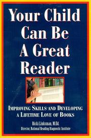 Cover of: Your child can be a great reader | Ricki Linksman