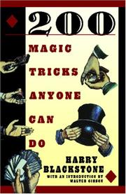 Cover of: 200 Magic Tricks Anyone Can Do