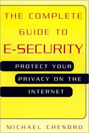 Cover of: The Complete Guide To E-Security