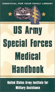 Cover of: US Army Special Forces Medical Handbook
