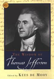 Cover of: The wisdom of Thomas Jefferson | Thomas Jefferson
