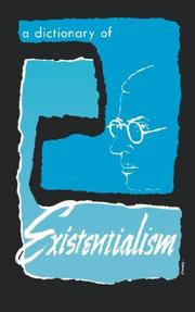 Cover of: A Dictionary of Existenitialism