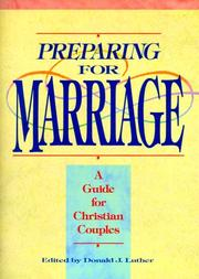 Cover of: Preparing for Marriage