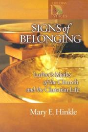 Cover of: Signs of Belonging