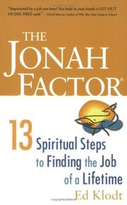 Cover of: The Jonah Factor
