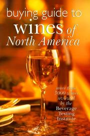 Cover of: Buying Guide To Wines Of North America