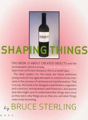 Cover of: Shaping things