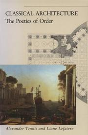 Cover of: Classical architecture: the poetics of order