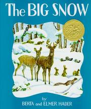 Cover of: The Big Snow by