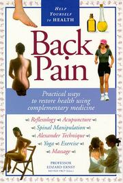 Cover of: Back pain | Edzard Ernst