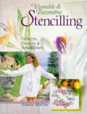 Cover of: Wearable & decorative stencilling
