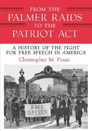 Cover of: From the Palmer Raids to the Patriot Act