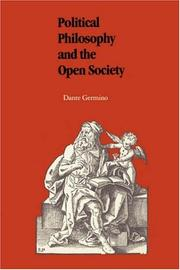 Cover of: Political philosophy and the open society