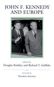 Cover of: John F. Kennedy and Europe