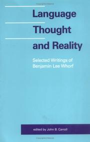 Cover of: Language, thought, and reality