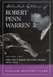 Cover of: Selected letters of Robert Penn Warren | Robert Penn Warren
