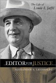 Cover of: Editor for justice