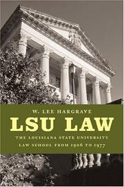 Cover of: LSU Law | W. Lee Hargrave
