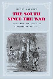 The South since the war by Sidney Andrews