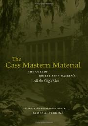 Cover of: The Cass Mastern material |