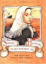 Cover of: Sarah, also known as Hannah | Lillian Hammer Ross