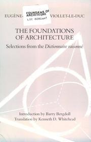 Cover of: The Foundation of Architecture
