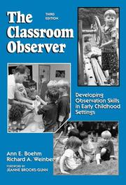 The classroom observer by Ann E. Boehm