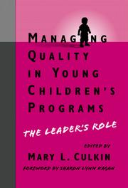 Cover of: Managing Quality in Young Children