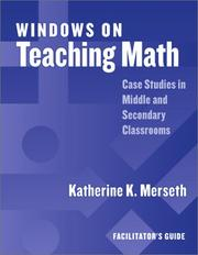 Cover of: Windows on Teaching Math: Cases of Middle and Secondary Classrooms