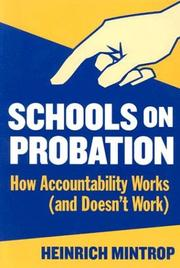 Cover of: Schools on Probation | Heinrich Mintrop