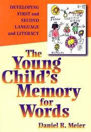 Cover of: The young child's memory for words