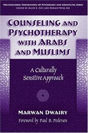 Cover of: Counseling and psychotherapy with Arabs and Muslims