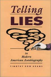 Cover of: Telling lies in modern American autobiography