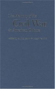 Cover of: The memory of the Civil War in American culture |