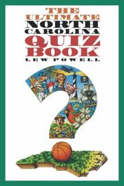 Cover of: The ultimate North Carolina quiz book