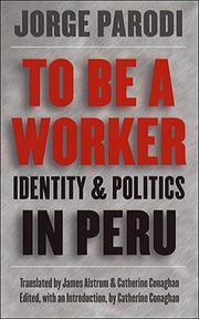 Cover of: To Be a Worker