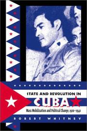 Cover of: State and revolution in Cuba | Robert Whitney