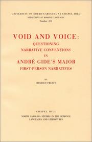 Cover of: Void and voice
