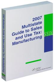 Cover of: Multistate Guide to Sales and Use Tax | Diane Yetter