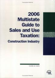 Cover of: Multistate Guide to Sales and Use Taxation
